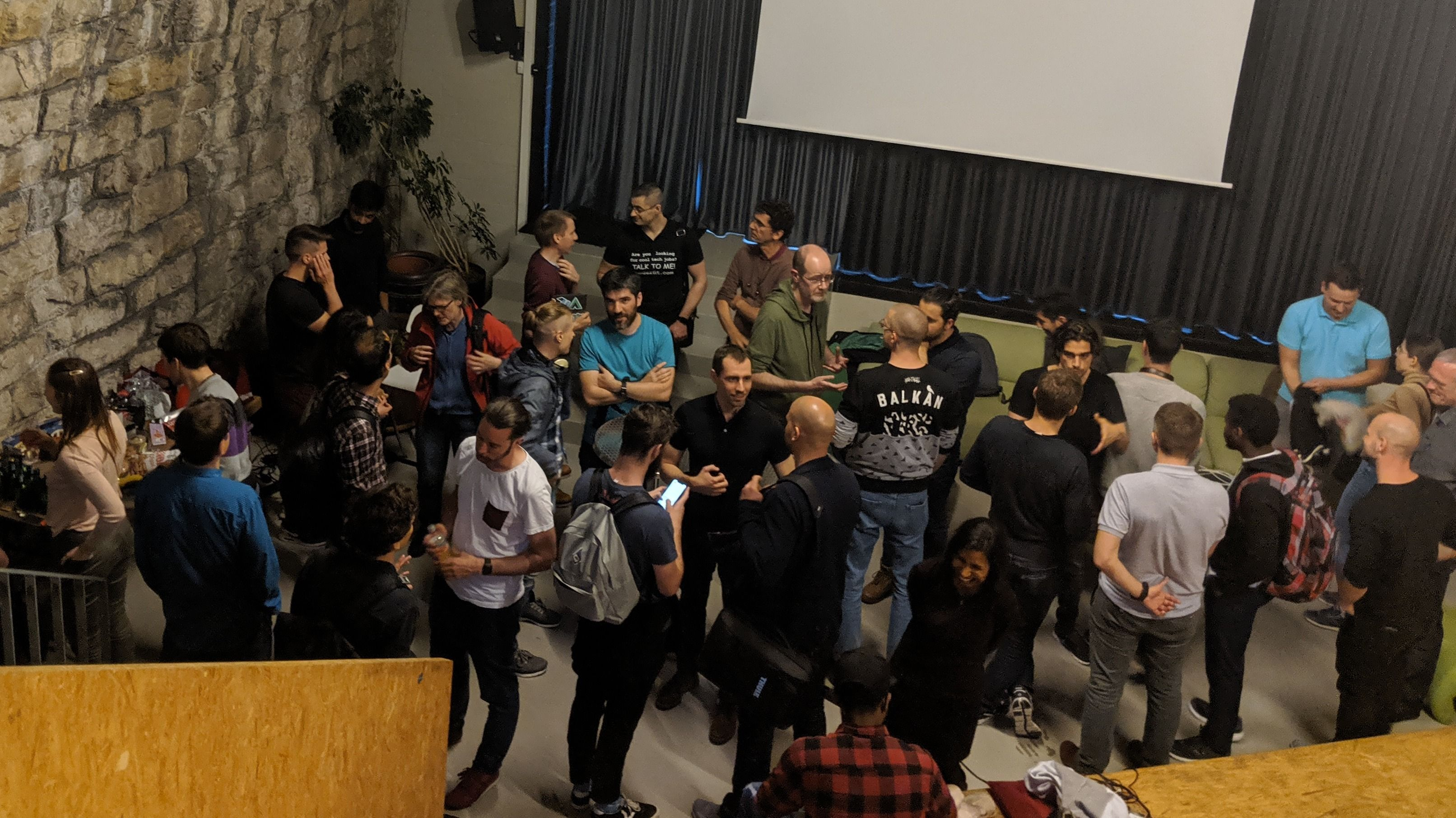 People networking at Web Zurich